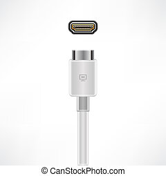 HDMI Cable - HDMI Video plug & socket (part of the Computer...