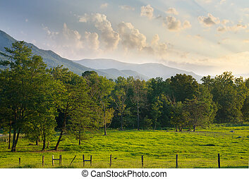 Cades Cove in The Great Smoky Mountains National Park