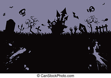 Halloween background - illustration