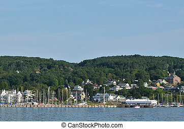 Bayfield, Wisconsin on Lake Superior on a Beautiful Summer...