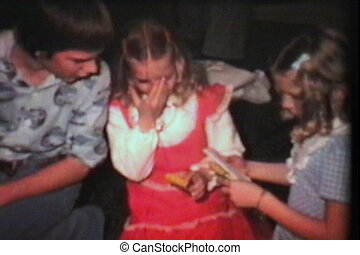 Pachinko Machine For Christmas 1975 - Three teenagers admire...