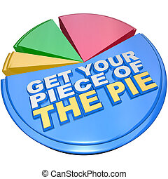 Get Your Piece of The Pie Chart Measuring Wealth and Riches...