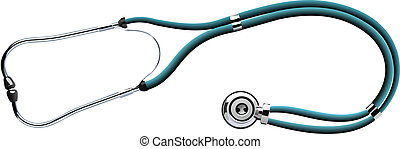 The stethoscope on white backgroun