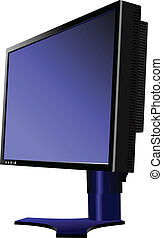 Flat computer monitor. Display. Ve