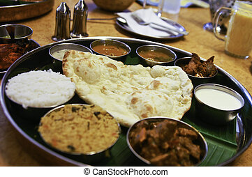 Tradtional Indian Food platter - A traditional indian...