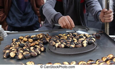 roasting chestnuts HD 1080p