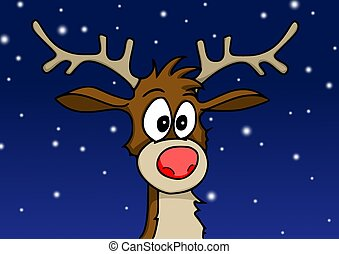 Rudolph in the snow