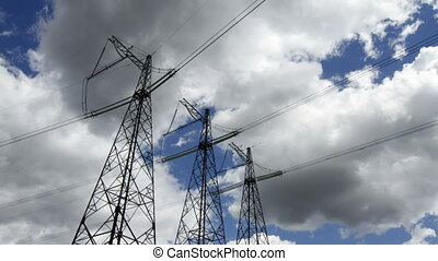 high voltage pylons - high voltage power pylons