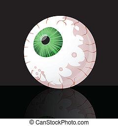 Eyeball on black