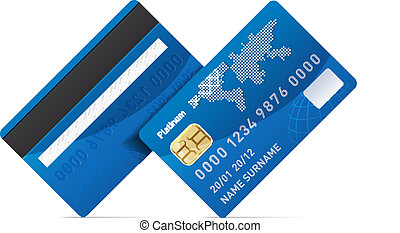 Credit card - Realistic credit card isolated on white...