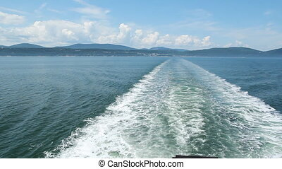 Ship wake - Wake from a ferry Crossing the St Lawrence...