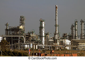 Oil refinery - Part of a big oil refinery and powerplant