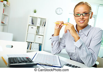 Successful accountant - Portrait of a young businesswoman at...