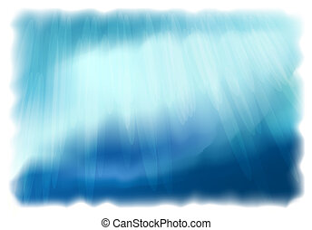 Underwater World Vector background Simulating watercolor...