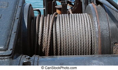 Heavy cable. - Heavy cable on a ship.