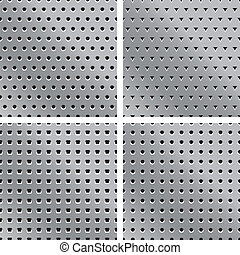 4 vector metal textures with holes