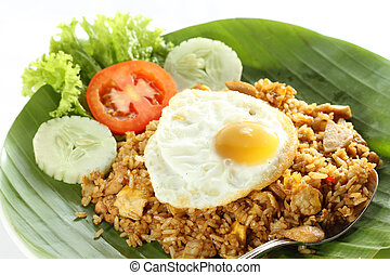Asian food, Fried Rice - Nasi Goreng, Indonesian Fried Rice