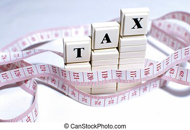 tax - This is an image of letter blocks.