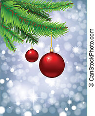 christmas baubles 0808 - Christmas background of glittery...