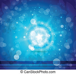 Vector blue shiny abstract background