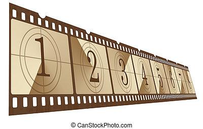 film  - Old negative film strip