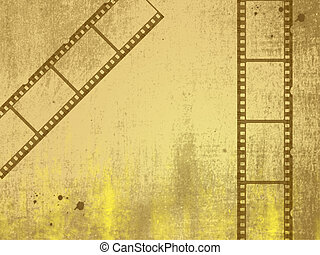 film - Old negative film strip
