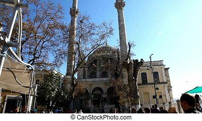 Big Mecidiye Mosque an People, shooting Canon 5D MarkII