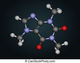 Molecular structure of caffeine - Caffeine, or...