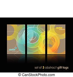 Set of gift cards with circles.