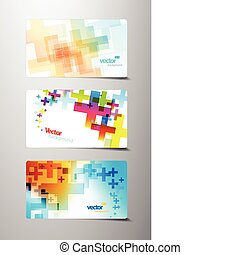 Set of abstract colorful cross variations