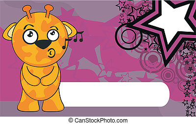 giraffe cartoon background6