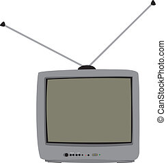 The TV with the aerial