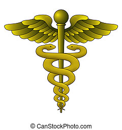 Caduceus Symbol on white background