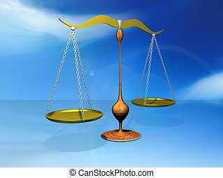 justice  - 3d illustration of justice or legal concept