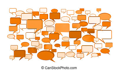 orange conversation icons 3D can use for any graphic design,...