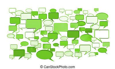 Green conversation icons - Green, conversation icons 3D can...