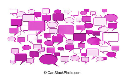 Pink conversation icons 3D can use for any graphic design,...