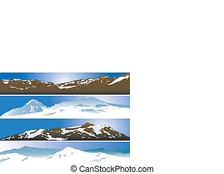 Mountain range background. Vector illustration for you...