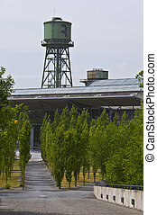 Area at the Jahrhunderthalle - disused industrial...