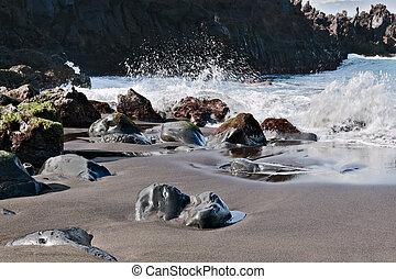 Rocky coastline Playa de Arenas Tenerife