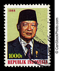 Postage stamp - INDONESIA-CIRCA 1988:A stamp printed in...