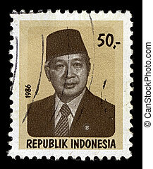 Postage stamp. - INDONESIA-CIRCA 1986:A stamp printed in...