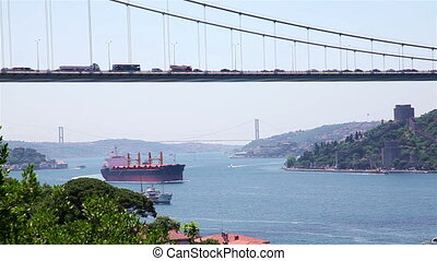 sea traffic - istanbul strait and sea traffic between Asia...