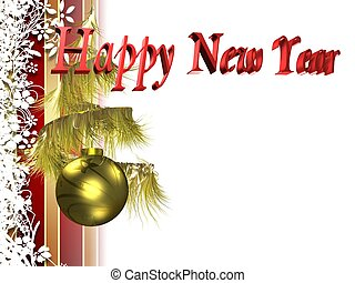 new year - New Years card