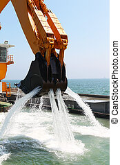 Pontoon Excavators seabed deepens - Excavators set to deepen...
