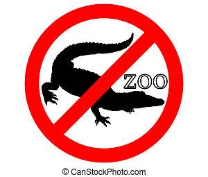 Crocodile in zoo prohibited