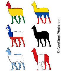 Lama flags