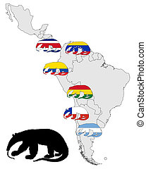 Giant anteater range America