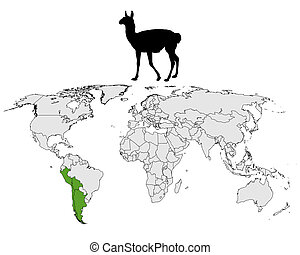 Guanaco range map