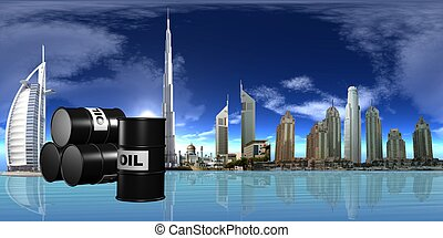 OIL - 3d illustration of oil